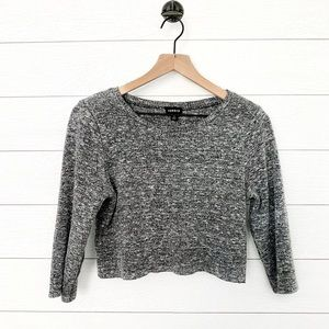 Torrid grey cropped sweater